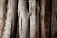 A pilha da madeira registra o fundo Imagens de Stock Royalty Free
