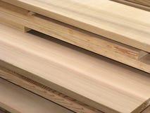 Pilha da madeira serrada do cedro - 3 Imagens de Stock Royalty Free