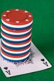Pilha da microplaqueta do póquer Foto de Stock Royalty Free