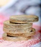 Pilha da moeda de libra Fotografia de Stock Royalty Free