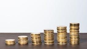 Pilha da moeda de ouro Fotos de Stock Royalty Free