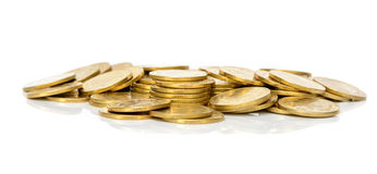 Pilha da moeda do dinheiro Fotografia de Stock