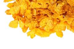 Pilha da parte de flocos de milho Fotos de Stock Royalty Free