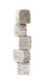 Pilha da pilha das pedras refrigerando do uísque isoladas Imagens de Stock Royalty Free
