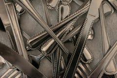 Pilha da pratas imagens de stock