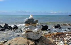 Pilha da rocha do zen Imagens de Stock Royalty Free