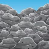 Pilha da rocha da montanha Fotos de Stock