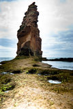 Pilha da rocha pelo oceano Fotos de Stock Royalty Free