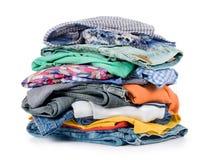 Pilha da roupa Imagens de Stock
