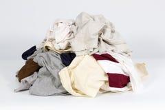 Pilha da roupa velha Imagem de Stock