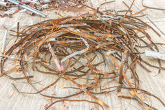 Pilha da sucata de metal (sucata de aço) Imagem de Stock Royalty Free