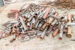 Pilha da sucata de metal, sucata de aço Fotos de Stock Royalty Free