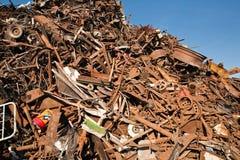 Pilha da sucata e de sucata Imagem de Stock