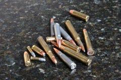 Pilha das balas fotografia de stock
