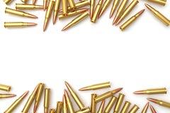 Pilha das balas no fundo branco Imagens de Stock