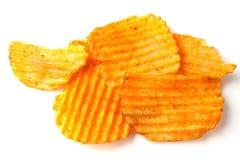Pilha das batatas fritas Fotografia de Stock Royalty Free
