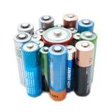 Pilha das baterias fotografia de stock