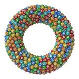 Pilha das bolas da loteria versão formada toro da pilha Imagens de Stock