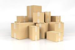 Pilha das caixas Foto de Stock