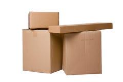 Pilha das caixas fotografia de stock