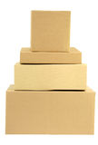 Pilha das caixas empilhadas Foto de Stock