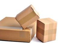 Pilha das caixas - trajeto Fotografia de Stock Royalty Free