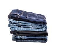 Pilha das calças de brim #1 Fotos de Stock Royalty Free