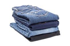 Pilha das calças de brim #3 Foto de Stock