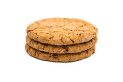 Pilha das cookies isoladas Foto de Stock Royalty Free