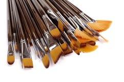 Pilha das escovas Foto de Stock