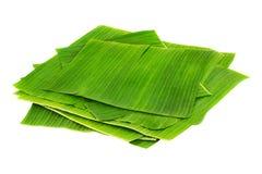 Pilha das folhas da banana Imagens de Stock