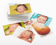 Pilha das fotografias Foto de Stock