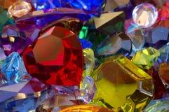 Pilha das gemas Imagens de Stock