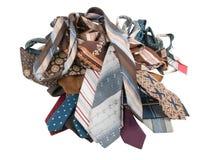 Pilha das gravatas Foto de Stock