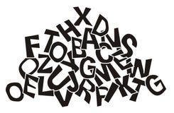 Pilha das letras Imagem de Stock Royalty Free