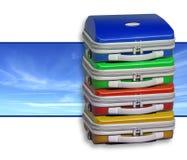 Pilha das malas de viagem Foto de Stock
