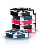 Pilha das microplaquetas do póquer Fotografia de Stock Royalty Free