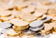 Pilha das moedas imagens de stock