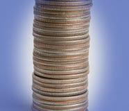 Pilha das moedas Fotografia de Stock