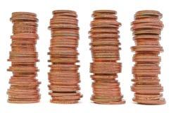 Pilha das moedas imagem de stock