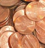 Pilha das moedas de um centavo Imagem de Stock
