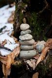 A pilha das pedras Fotografia de Stock