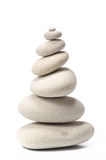 Pilha das pedras isoladas no branco Imagens de Stock
