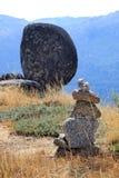 Pilha das pedras no parque natural português Foto de Stock Royalty Free