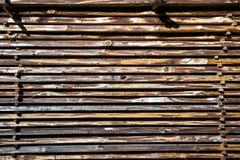 Pilha das placas de madeira imagens de stock royalty free