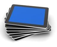 A pilha das tabuletas genéricas, 3d rende Fotos de Stock Royalty Free