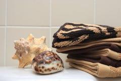 Pilha das toalhas Imagem de Stock Royalty Free