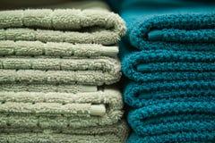 Pilha das toalhas Foto de Stock