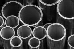 Pilha das tubulações de aço foto de stock royalty free