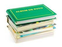 Pilha de álbuns de foto Imagens de Stock